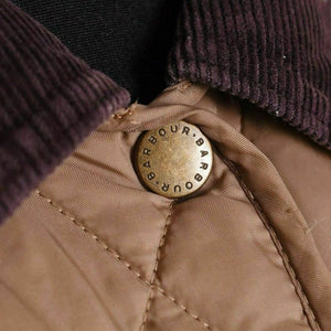 Barbour Summer Liddesdale-ladies Quilt Jacket-Mink/Brown-LQU0236BE52 button