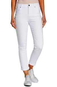Barbour Trouser Ladies Essential Slim skinny stretch Trouser in White LTR0158WH11
