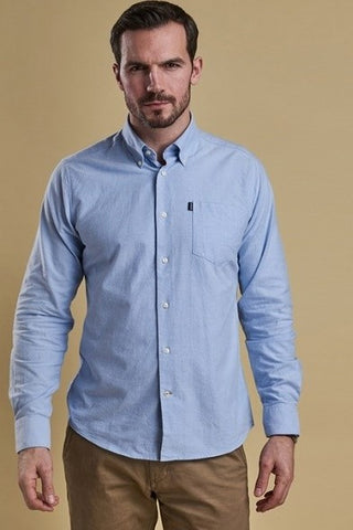Barbour Shirt Stanley Oxford in Blue tailored fit MSH3332BL51