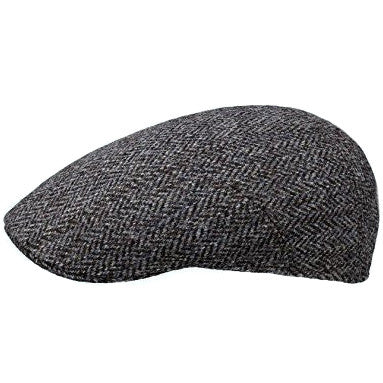 Stetson Cap Flat Cap Michigan in Harris Tweed wool 6170501