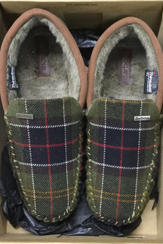 Barbour Slippers-Monty Moccasin Slippers -Classic Tartan-MSL0001TN11
