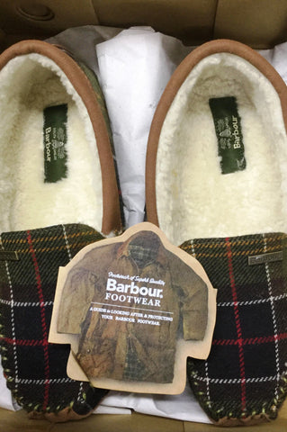 Barbour Slippers Betsy Moccasins in Classic Tartan LSL0002TN11
