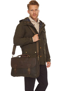 briefcase wax cotton Barbour at Smyths
