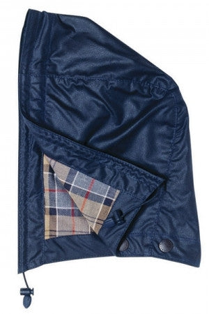 Barbour Hood in Navy waxed cotton MHO0004NY91
