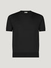Black Classic Cashmere & Silk T-Shirt - Connolly England