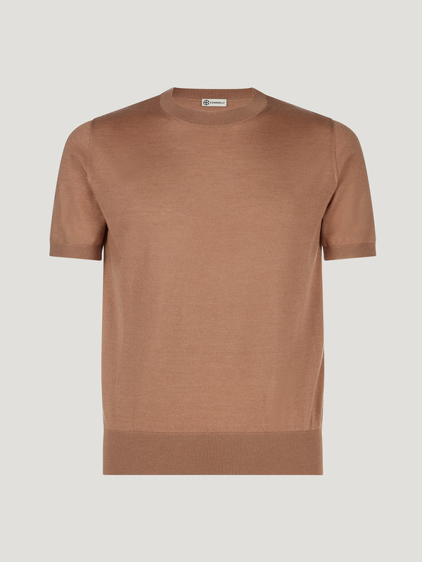Gold Classic Cashmere & Silk T-Shirt - Connolly England