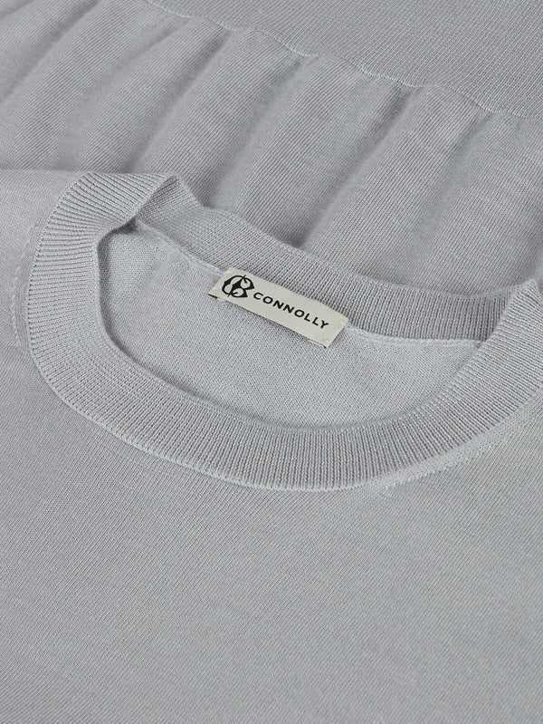 Connolly England | Silver Classic Cashmere & Silk T-Shirt