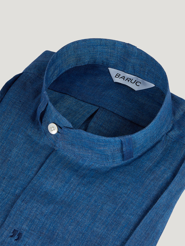 Connolly England | Indigo Guayabera Shirt