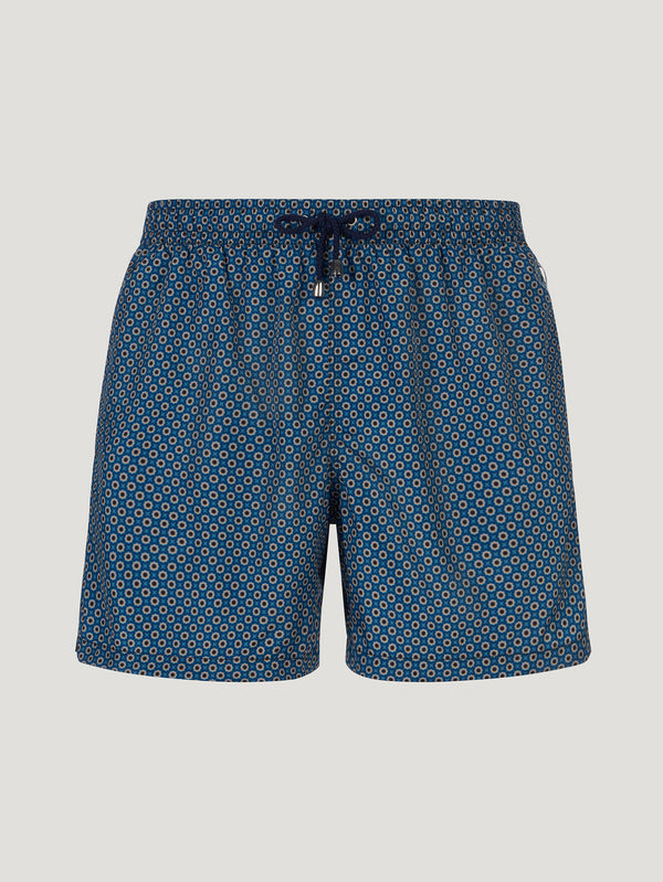Connolly England | Blue Rosette Swimming Trunks