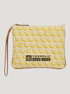 Connolly England | Yellow Large Printed Canvas Pouch