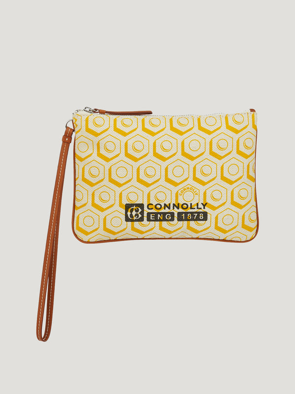 Connolly England | Yellow Small Printed Canvas Pouch