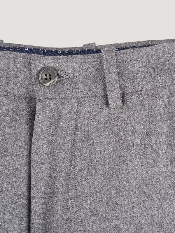 Connolly England | Grey Flannel Stretch High Waist Trousers