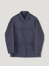 Navy Gabbardine Poachers Coat - Connolly England