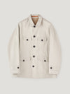 Stone Gabbardine Poachers Coat - Connolly England