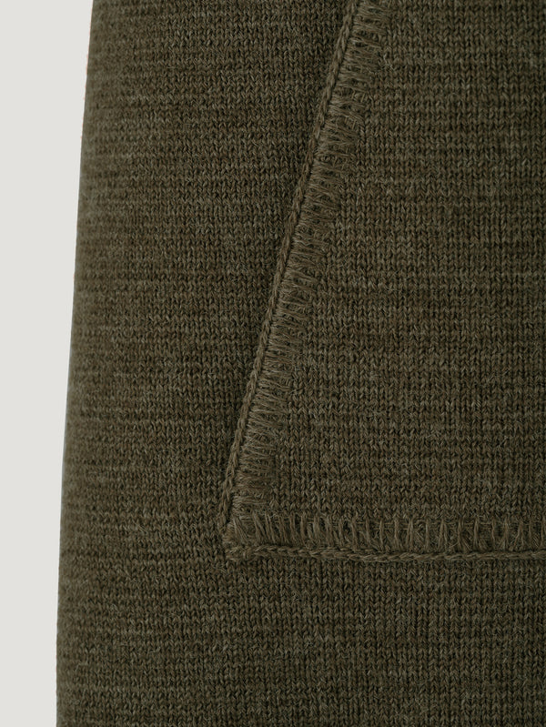 Connolly England | Khaki Wool Drop Back Car Vest