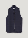 Connolly England | Navy Wool Drop Back Car Vest