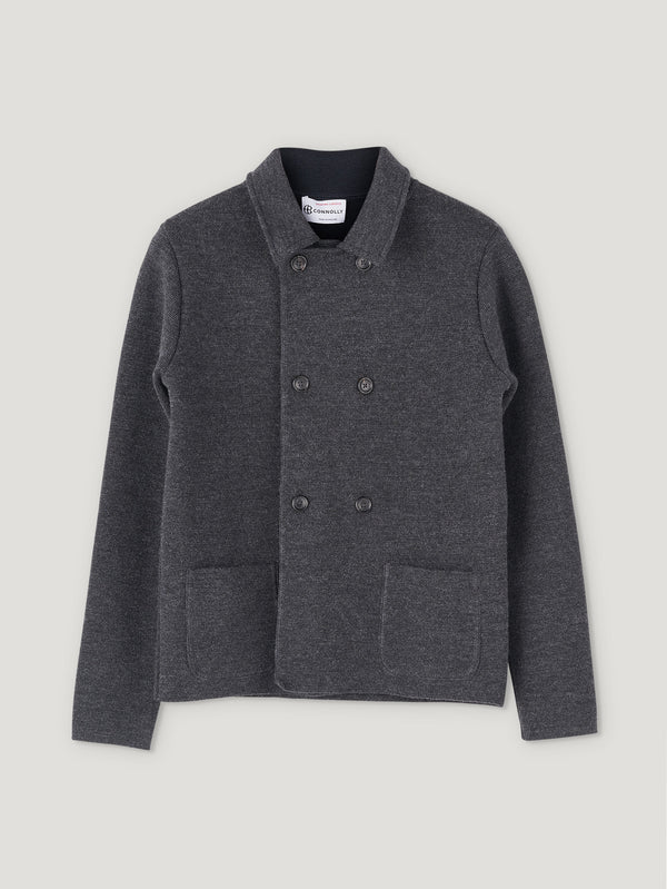 Connolly England | Anthracite Wool Short Double Breasted Mac