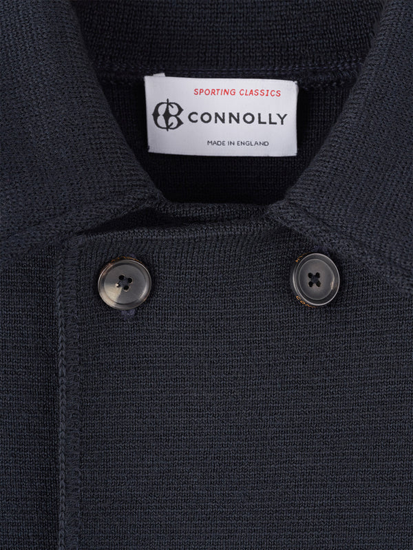 Connolly England | Navy Wool Short Double Breasted Mac