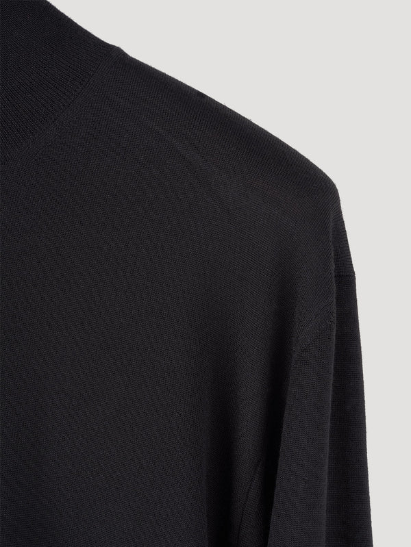 Connolly England | Black Classic Roll Neck