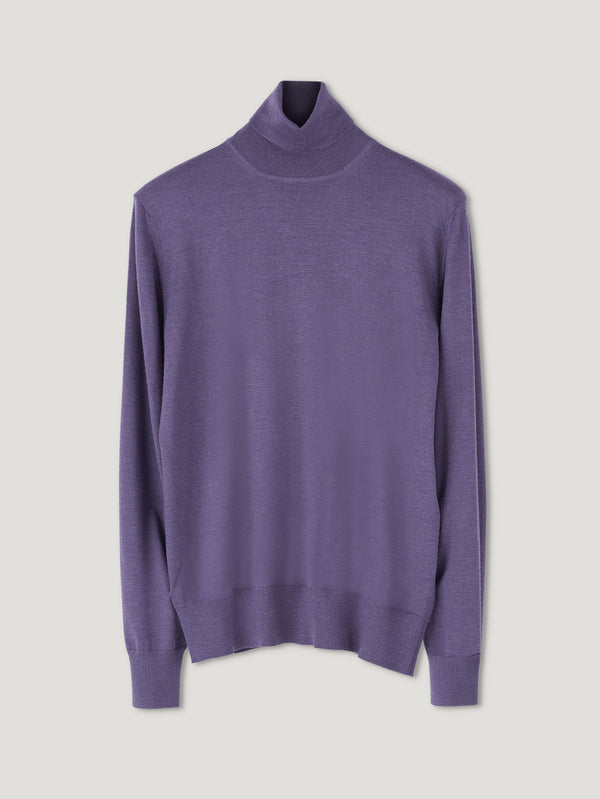 Connolly England | Purple Classic Roll Neck