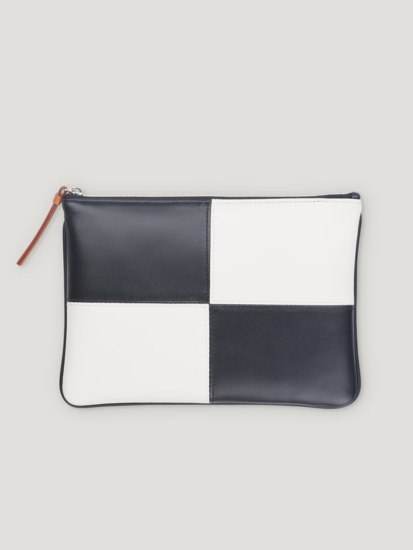 Connolly England | Black and White Large Circuit Pouch with Strap 1945