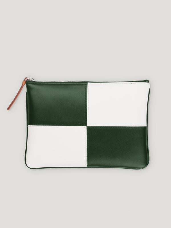 Connolly England | White and Green Circuit Pouch 1945