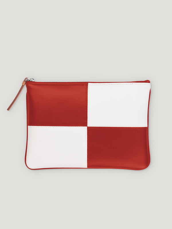Connolly England | White and Red Circuit Pouch 1945