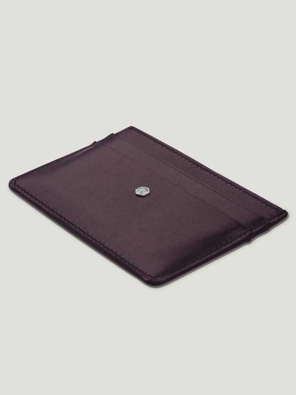 Connolly England | Burgundy Hex Credit Card Case 1904