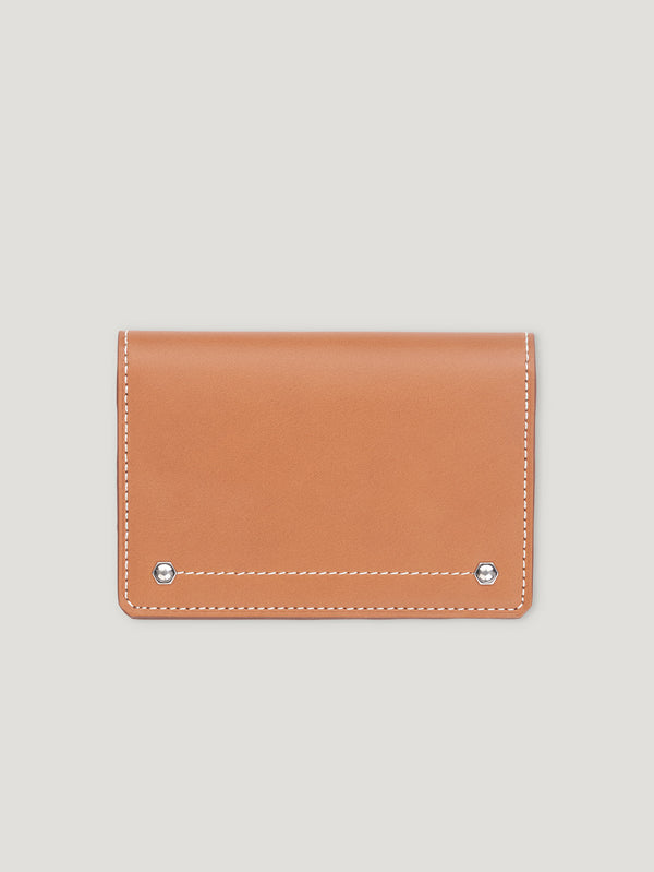 Connolly England | Tan Hex Folded Credit Card Case 1904