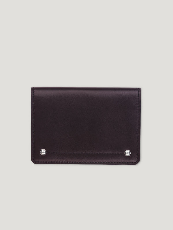 Connolly England | Burgundy Hex Folded Credit Card Case 1904