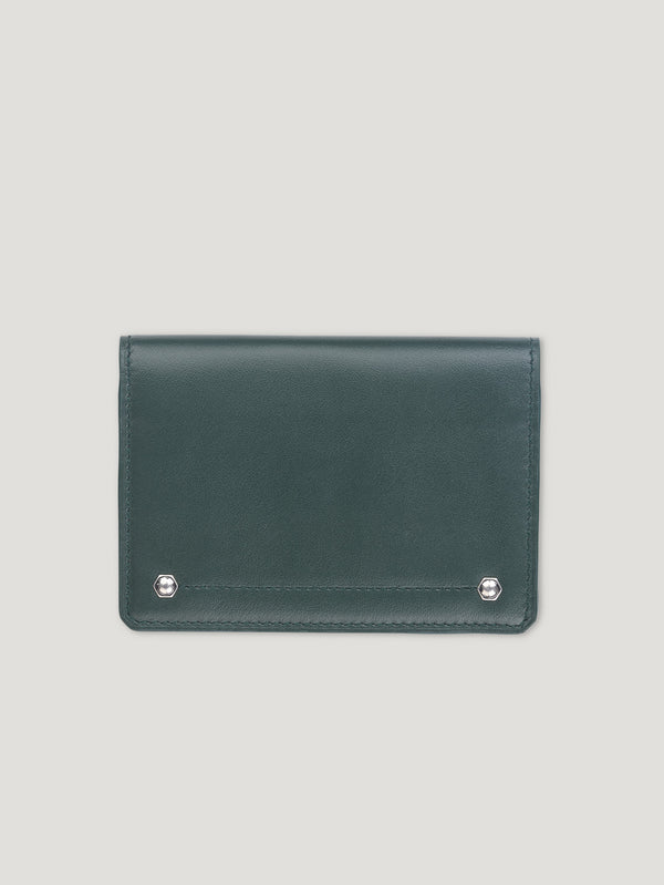 Connolly England | Dark Green Hex Folded Credit Card Case 1945