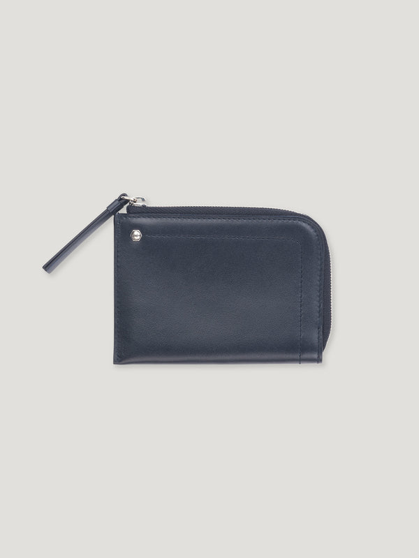 Connolly England | Navy Hex Half Small Wallet