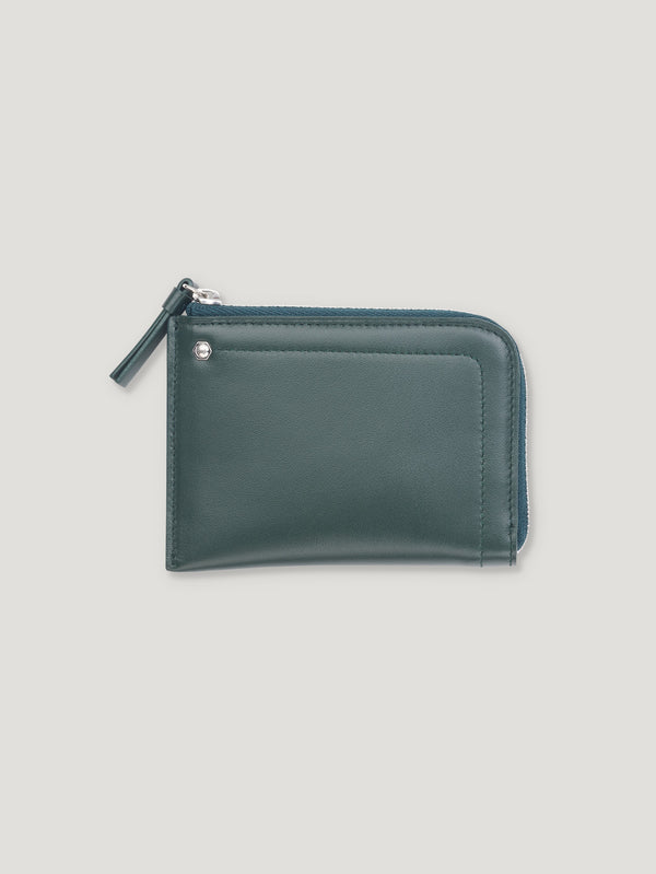 Connolly England | Dark Green Hex Half Small Wallet