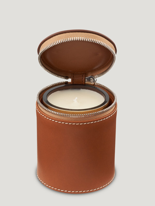 Tan Connolly Travel Candle Holder - Connolly England