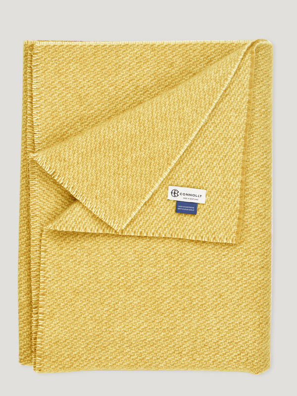 Connolly England | Gold Cashmere Braigo Blanket 140x200cm