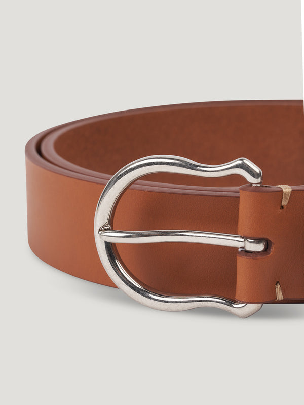 Connolly England | Tan Plain Shield Buckle Belt