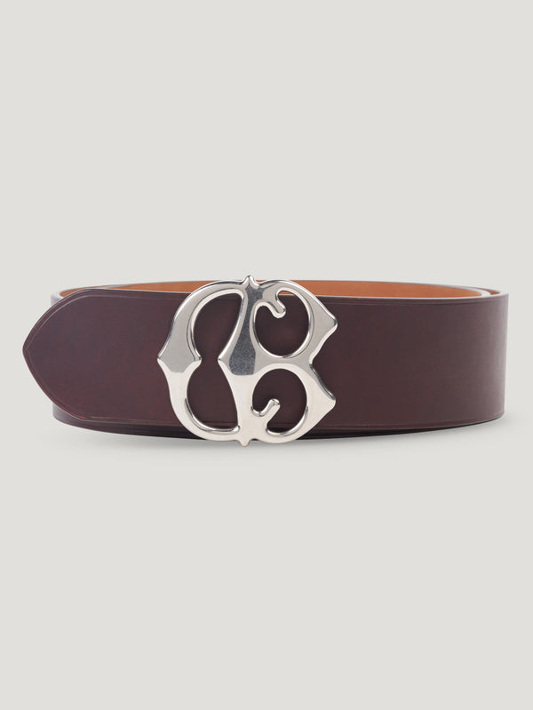 Connolly England | Burgundy Large CB Buckle Belt