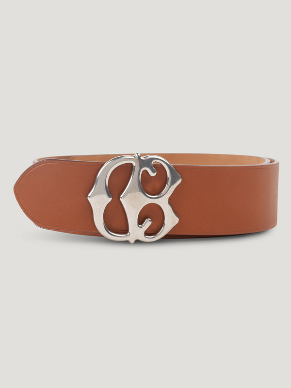 Tan Large CB Buckle Belt - Connolly England