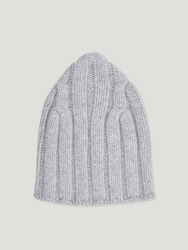 Connolly England | Light Grey Chunky Rib Beanie
