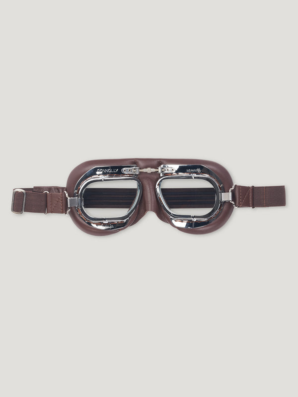 Brown CB Driving Goggles - Connolly England