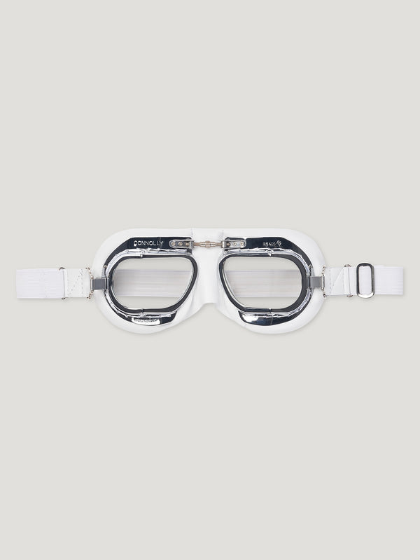 White CB Driving Goggles - Connolly England