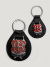 Black Large Enamel Key Ring