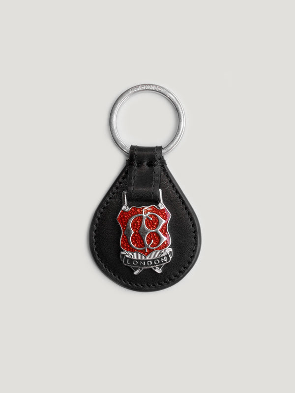 Black Small Enamel Key Ring 1904