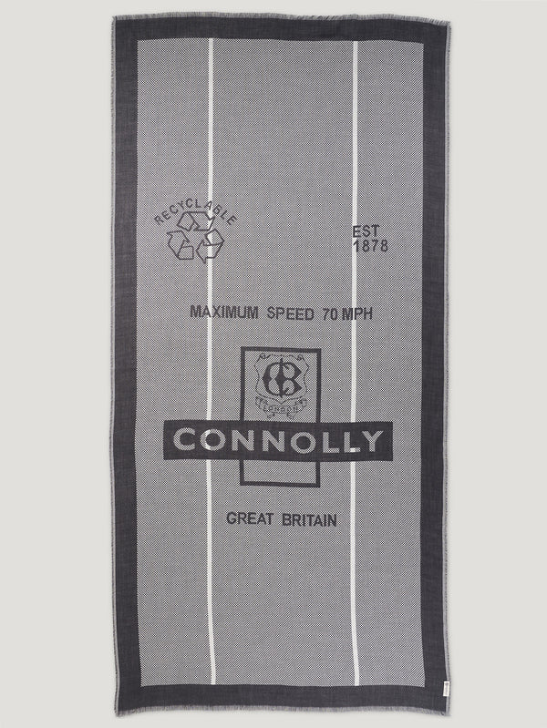 Connolly England | Black and Ecru Connolly CB Shawl