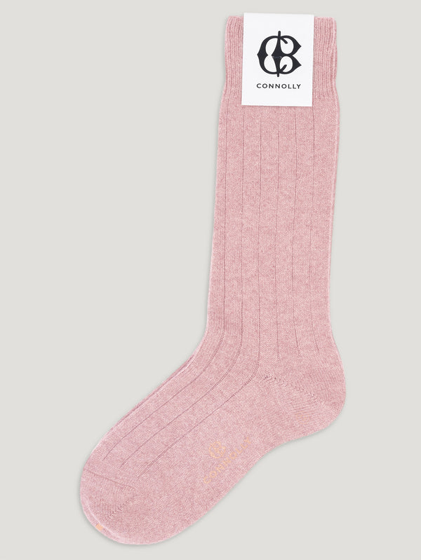 Connolly England | Baby Pink Calf Cashmere Socks