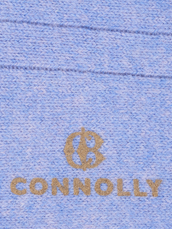Connolly England | Cloud Blue Calf Cashmere Socks