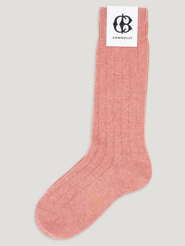 Connolly England | Coral Calf Cashmere Socks