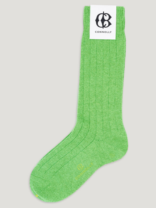 Connolly England | Grass Green Calf Cashmere Socks