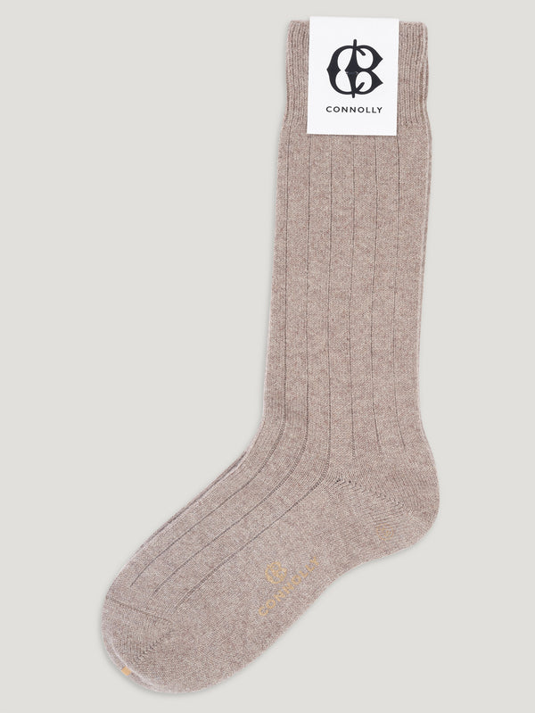 Gravel Calf Cashmere Socks - Connolly England