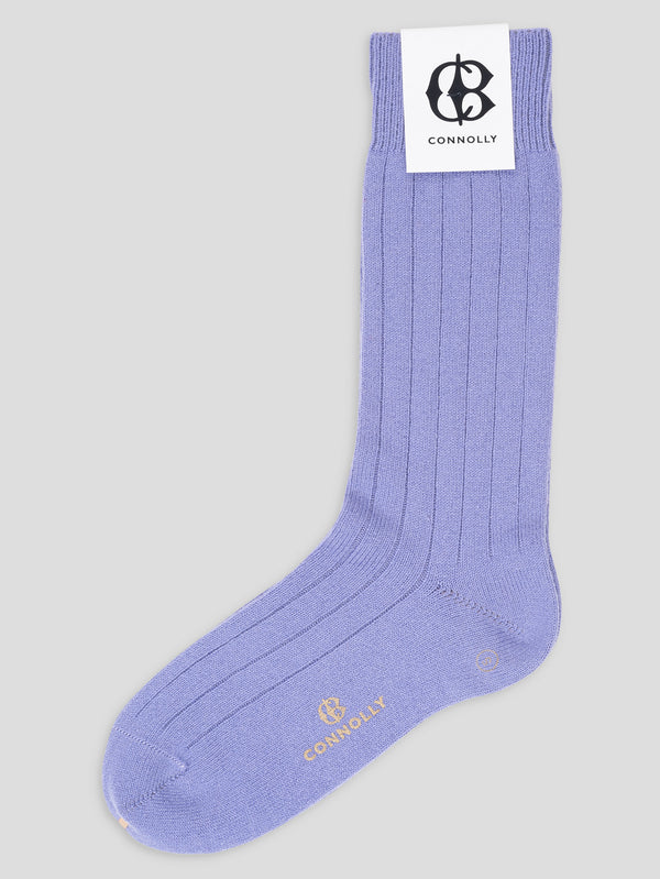 Mauve Calf Cashmere Socks - Connolly England